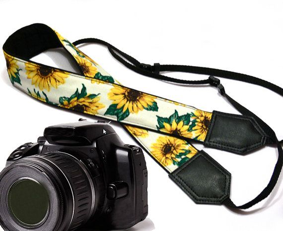Hey, I found this really awesome Etsy listing at https://www.etsy.com/listing/191783475/sunflowers-camera-strap-flowers-camera