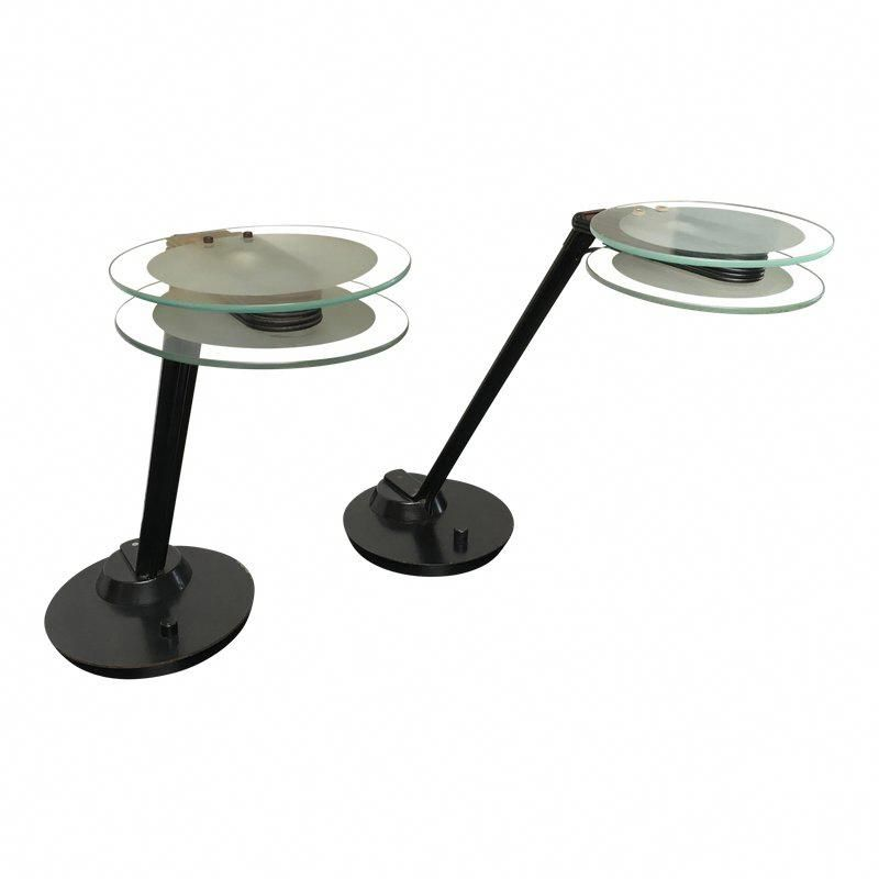 Black Glass Post Modern Italian Table Lamps By Relco A Pair Tablelamps With Images Lamp Modern Lamp Italian Table