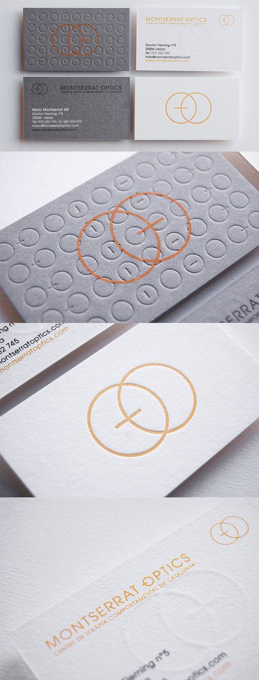 Elegant and understated textured letterpress business card design elegant and understated textured letterpress business card design for an optician reheart Images