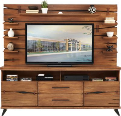 Dana Point Brown 2 Pc Wall Unit 777 0 81w X 21d X 74h Find Affordable Wall Units For Your Home That Will Complement The Rest Wall Unit The Unit Rooms To Go