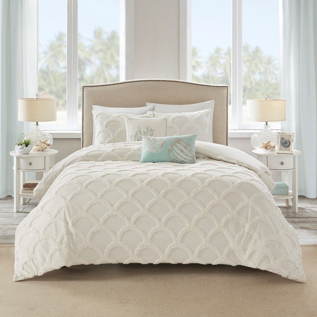 Cannon Beach Chenille 3Piece Comforter Set Queen Size