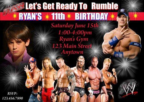 Wrestling Birthday Invitation Wrestling Banner Printable