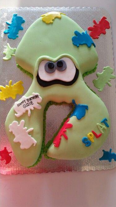 Nintendo Splatoon Theme Cake Www Yoyocakes Net Nintendo