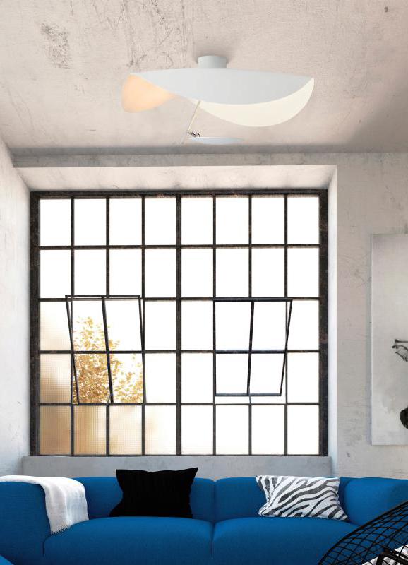 Außergewöhnlich Catellani U0026 Smith Lederam Manta CWS1: Die Deckenleuchte Mit LED Besteht Aus  Kleinen Scheiben, Mit Weichen, Warmen Farben. Diese Werden Mit LED Modulen  Der ...