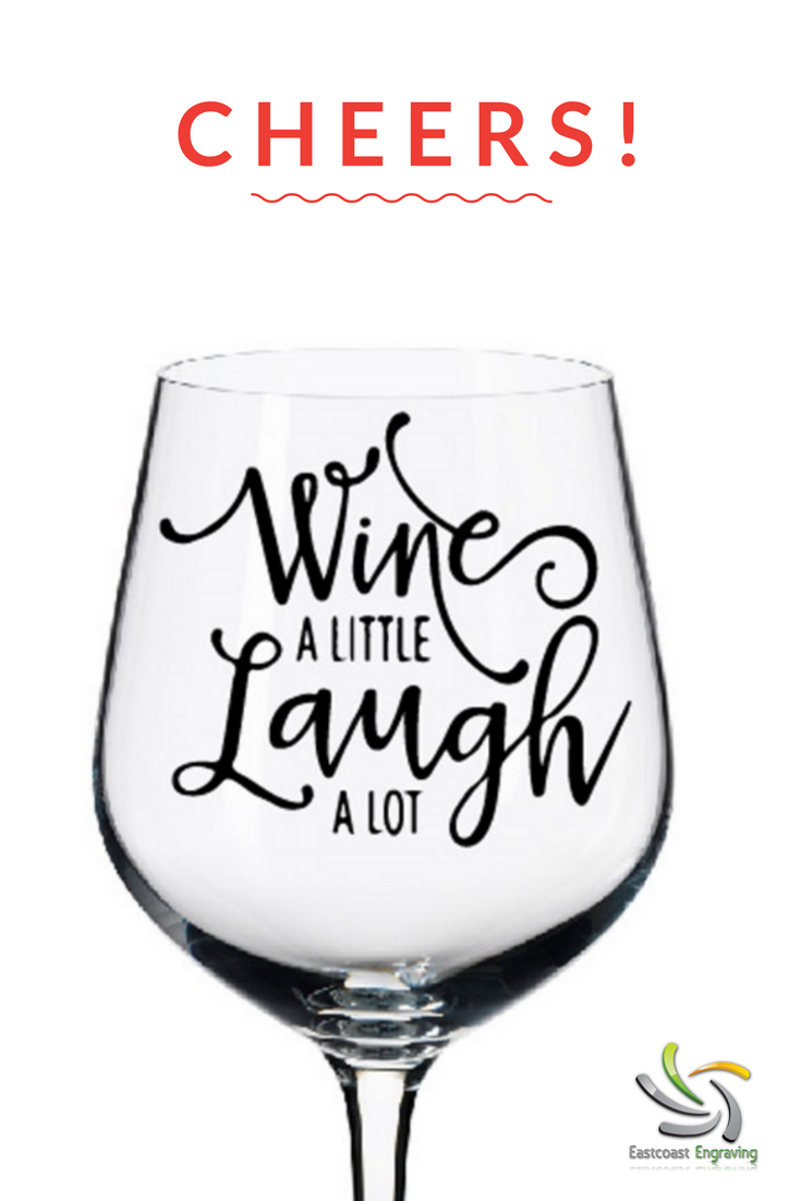 Wine And Laugh Tumbler Glass Decal Christmas Wine