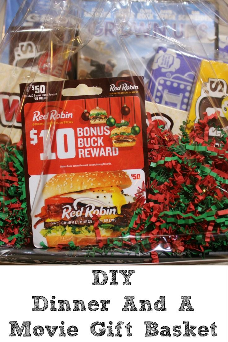 This DIY Dinner And A Movie Gift Basket Idea is the perfect gift ...