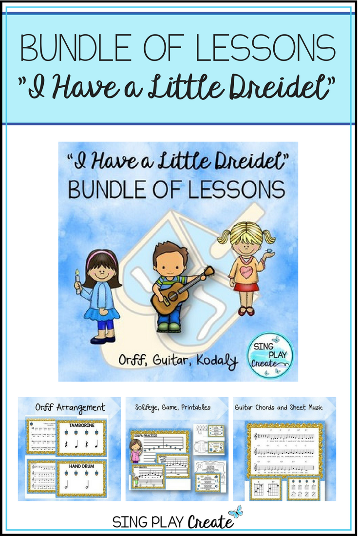 Music class lesson unit i have a little dreidel song kodaly i have a little dreidel a music class favorite with huge variety of biocorpaavc