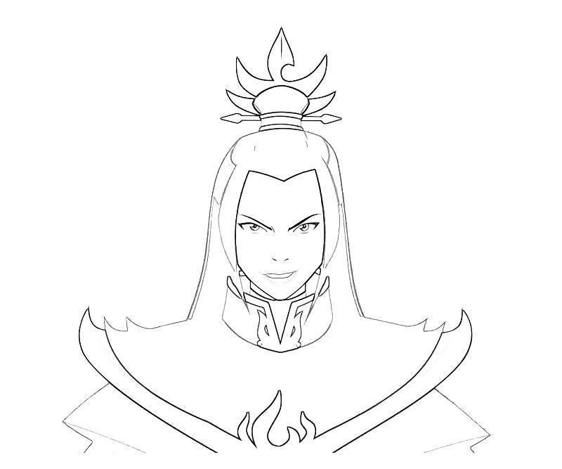 Avatar Prince Azula   Yumiko Fujiwara   color pages   Pinterest