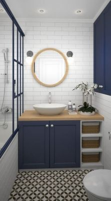 37 Blue Bathroom Vanity Ideas Actionable Bathroom Improvement Tips Small Bathroom Makeover Small Bathroom Bathroom Makeover