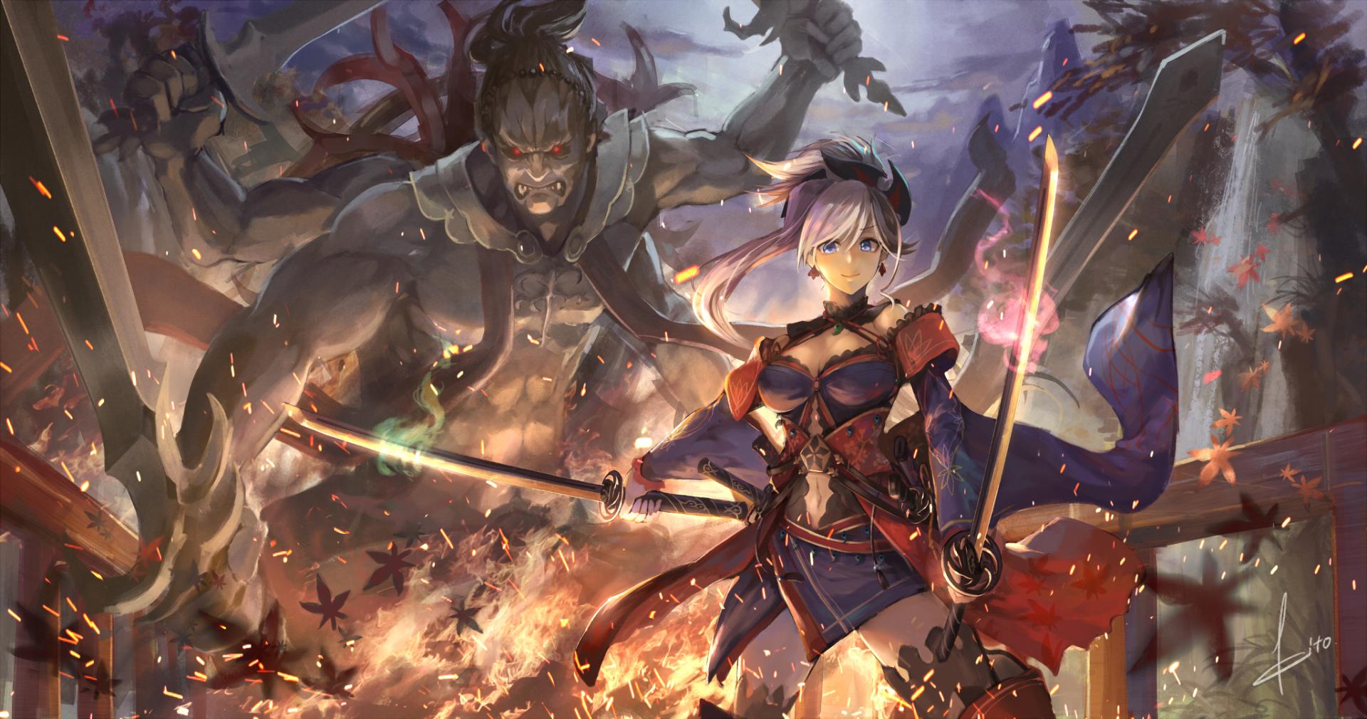 Anime Fate Grand Order Fate Series Miyamoto Musashi Wallpaper Musashi Miyamoto Musashi Anime