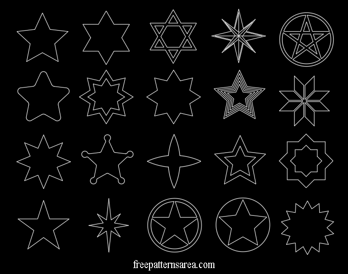 Star Shape Vectors and Templates | Svg shapes, Vector shapes