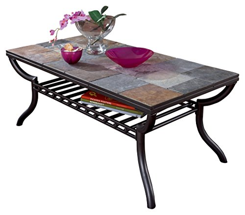 Ashley Furniture Signature Design Antigo Coffee Table Tiled Coffee Table Modern Glass Coffee Table Coffee Tables For Sale