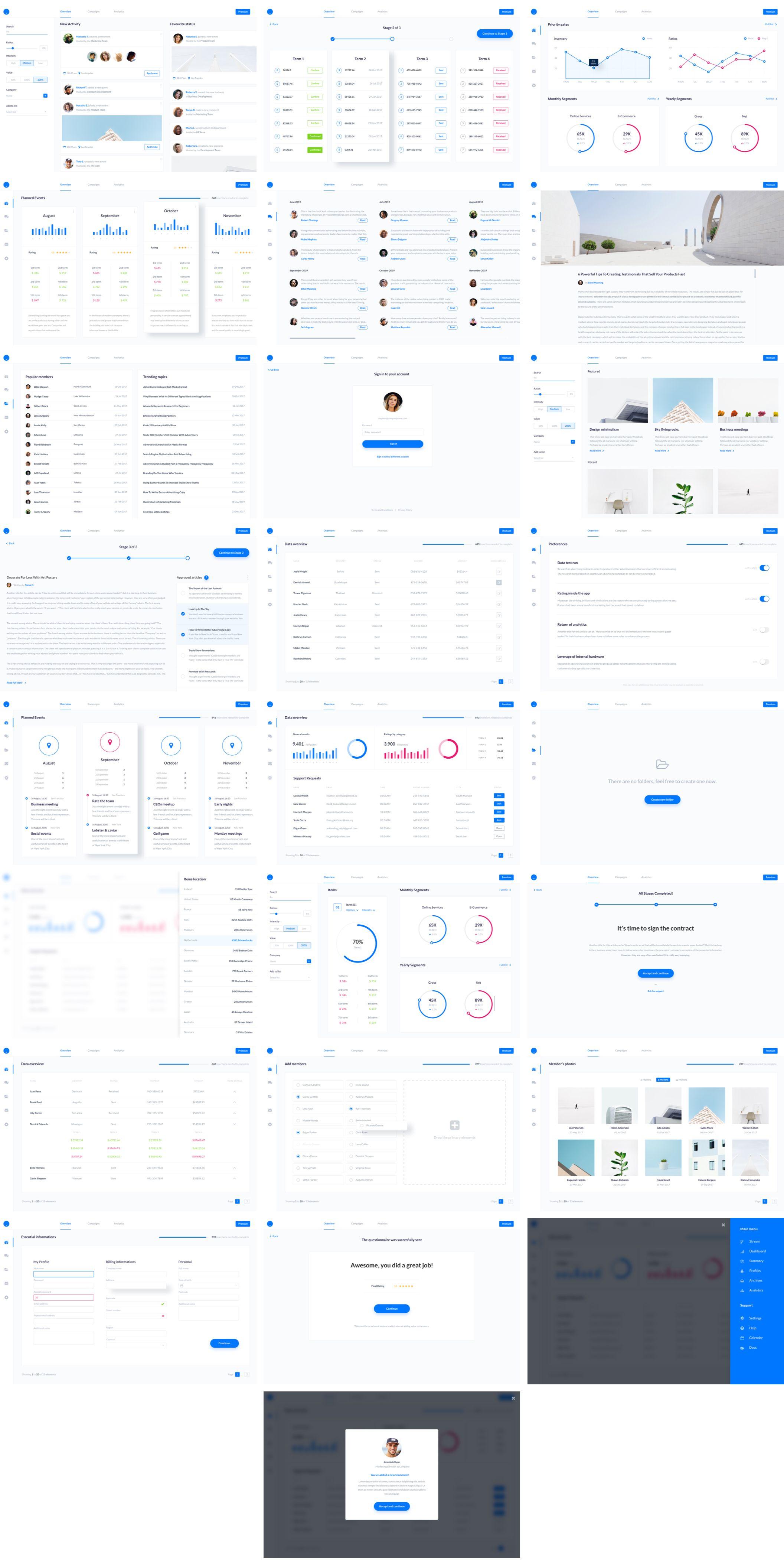Web SaaS Dashboard UI Kit — UI Kits on UI8 | Admin | Dashboard ui