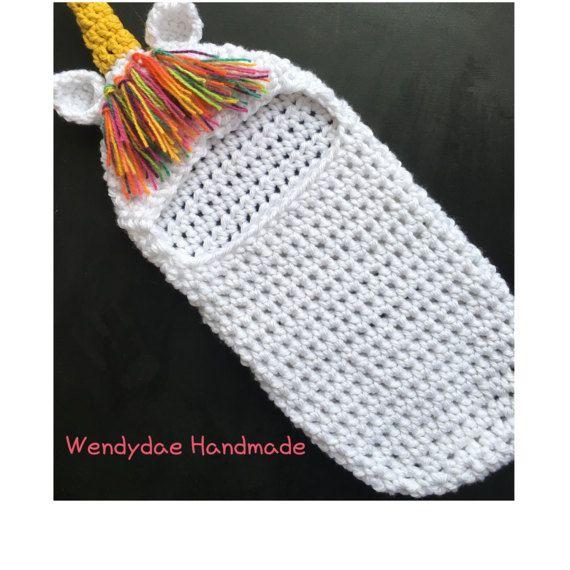 Crochet Pattern, Unicorn, Newborn, Swaddle, Cocoon, Photo Prop ...