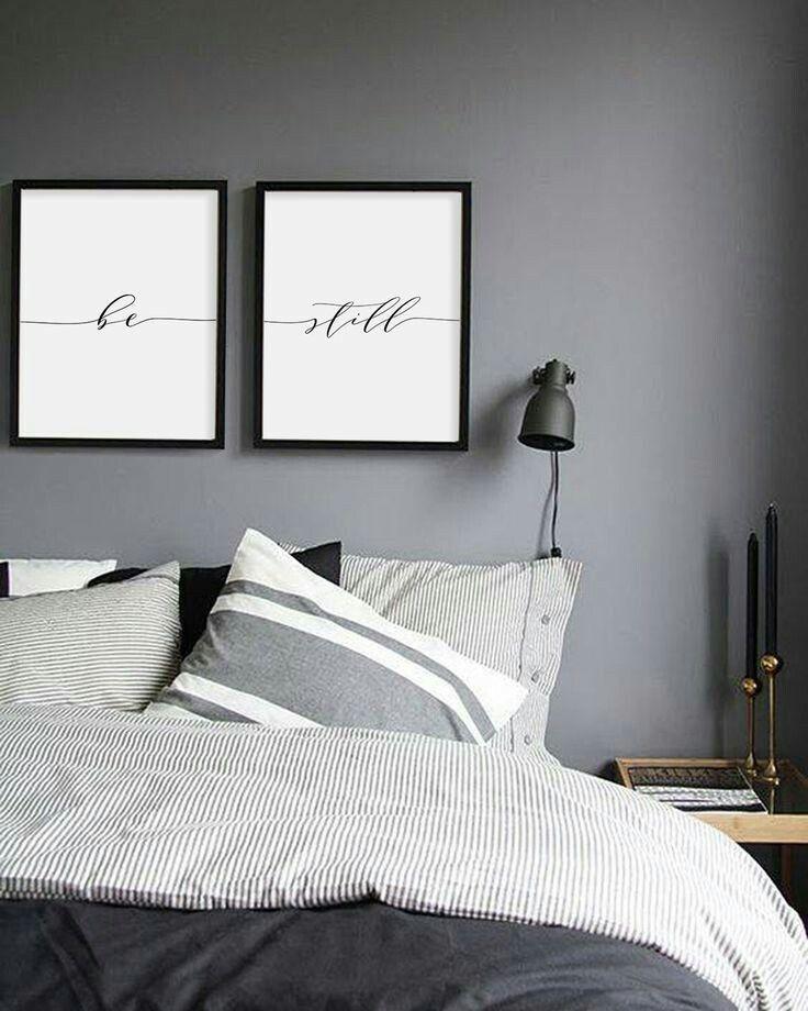 Grey Wall Bedroom