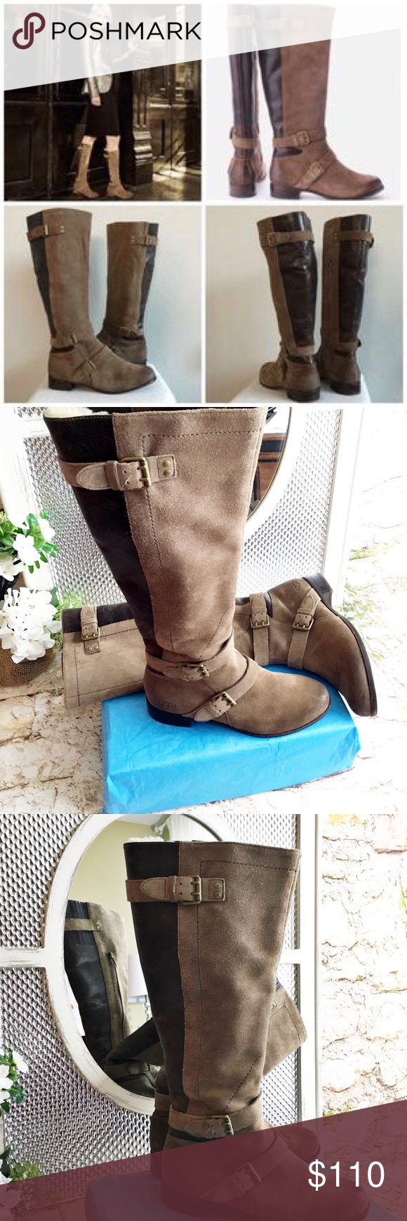 9703f819cec UGG Australia Cydnee fawn Riding Boot, Size 6 Boot is a unique pair ...