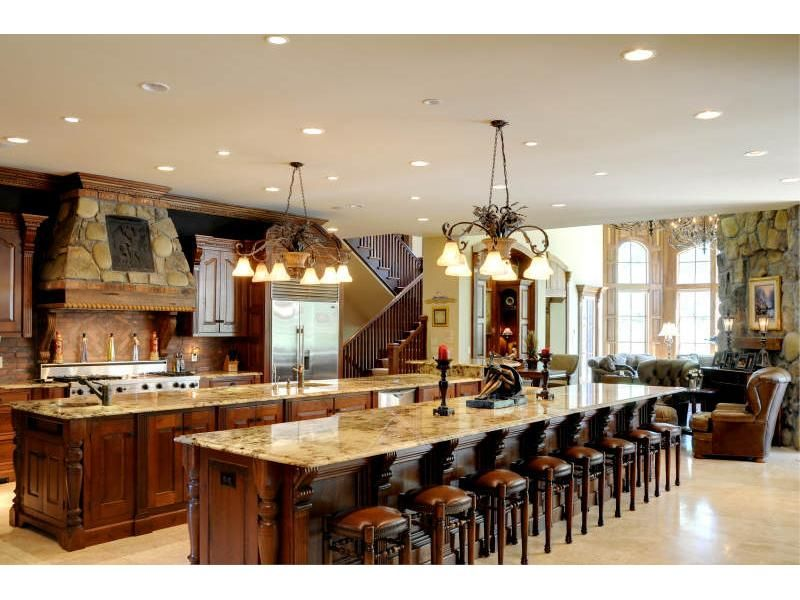 Marble Double Island Kitchen Kitchen And Dining Double Island