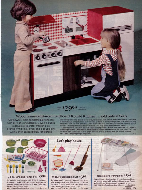 My Kitchen Set From SEARS Wish Book! Wonder Why My Real Kitchens Have  Always Been Red Themed?! How Sears Made Our Christmas AWESOME. | Modern  Kiddo
