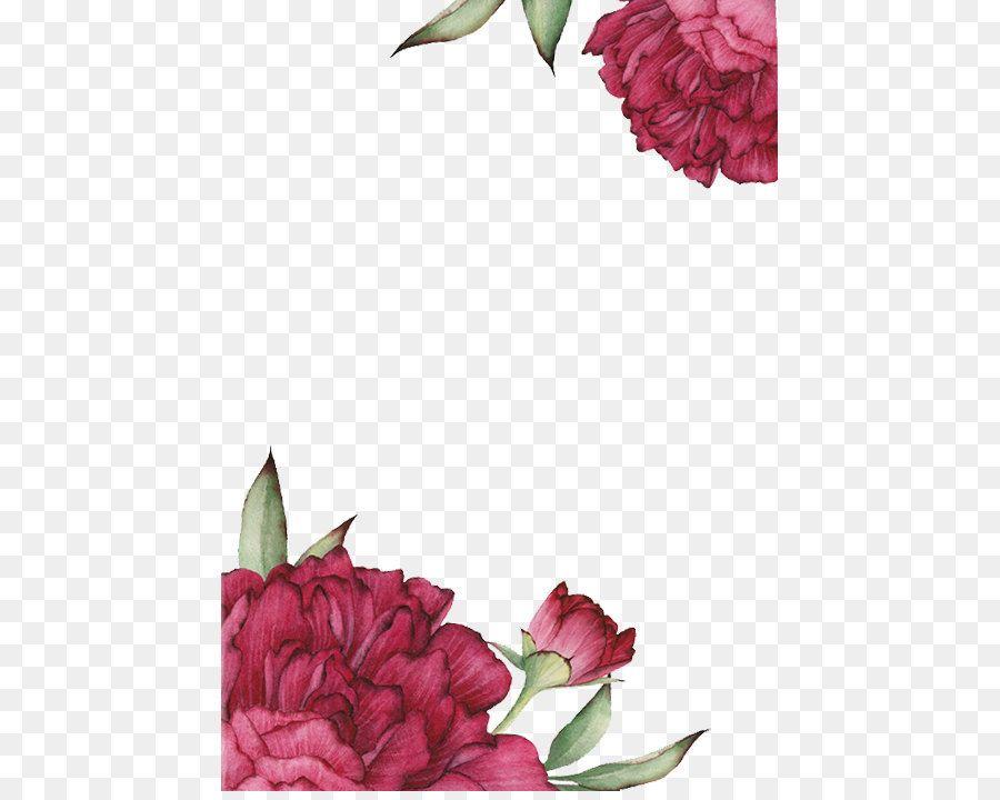 Red Rose Painted Effect Svadba Kartinki Dizajn
