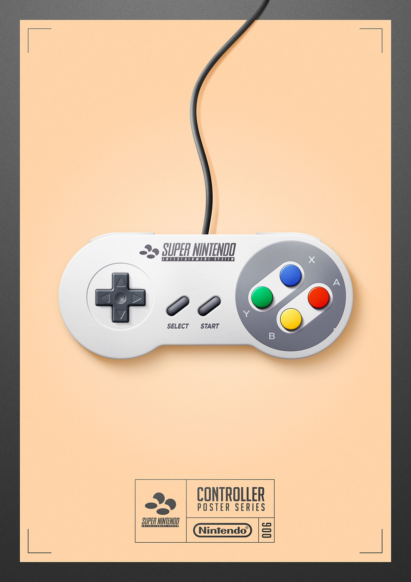 Personal work.Illustrations of nine game controllers.   Games ...