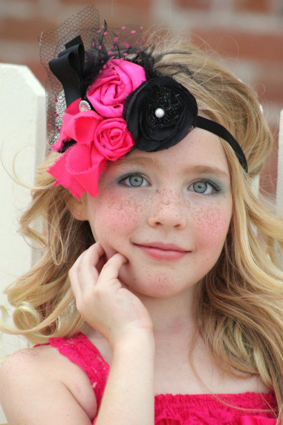 Rosette Headband  Girl to Woman Headband by LadyRoyalCouture, $25.99