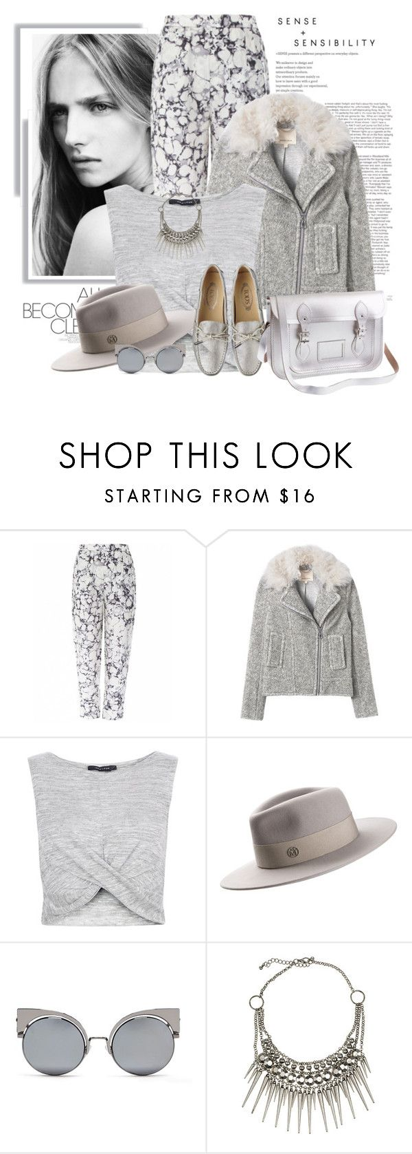 """""""Sem título #2541"""" by bellerodrigues ❤ liked on Polyvore featuring Wood Wood, Rebecca Taylor, New Look, Maison Michel, Fendi, Club Manhattan and J.Crew"""
