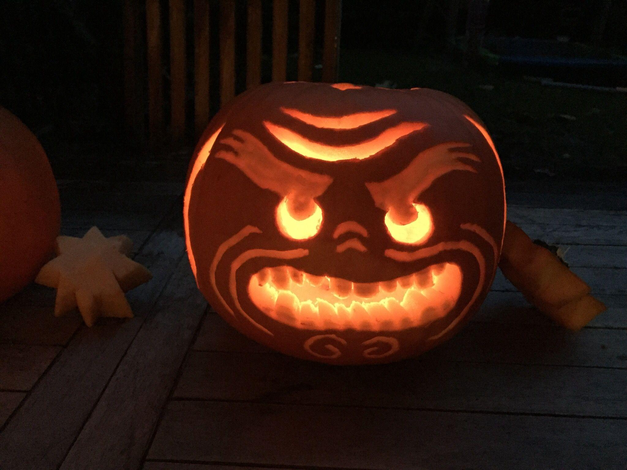 ninjago pumpkin template  Halloween Ninjago Lord Garmadon Pumpkin in 6 | Pumpkin ...