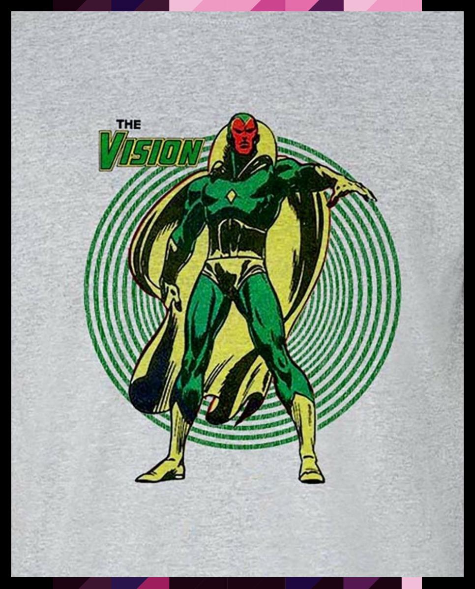The Vision tee shirt retro bronze age marvel comics avengers graphic t shirt  e