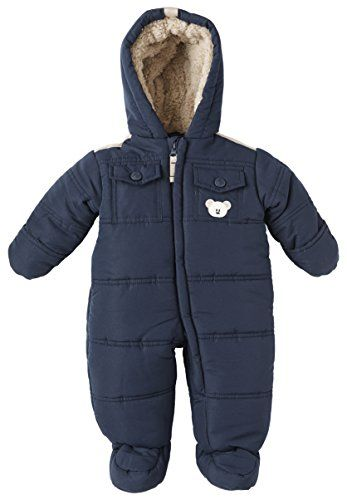 288c3e503 London Fog Baby Boys Snow Teddy 1Piece Insulated Snowsuit navy 6 9 ...