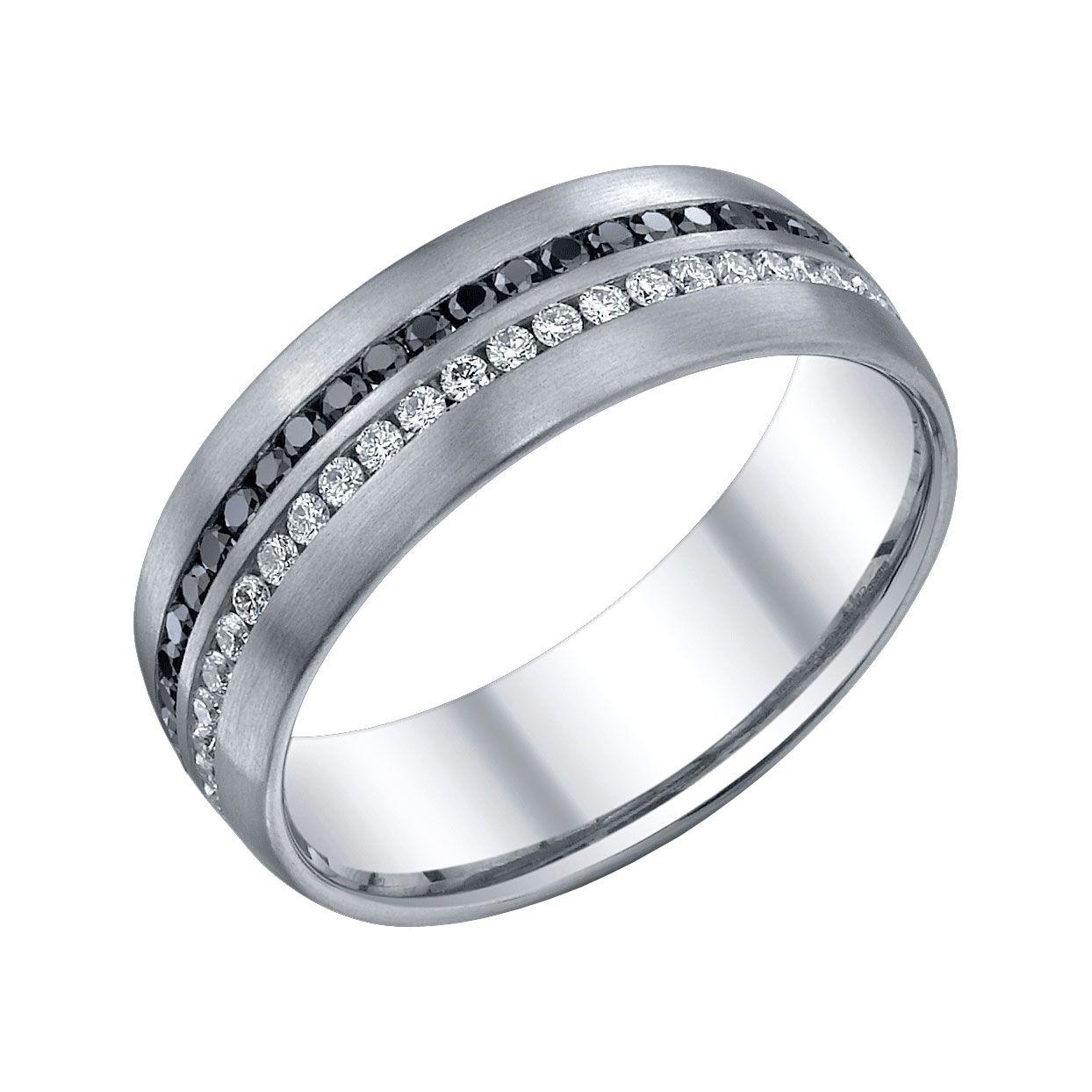 black & white diamond gents wedding band steven singer jewelers