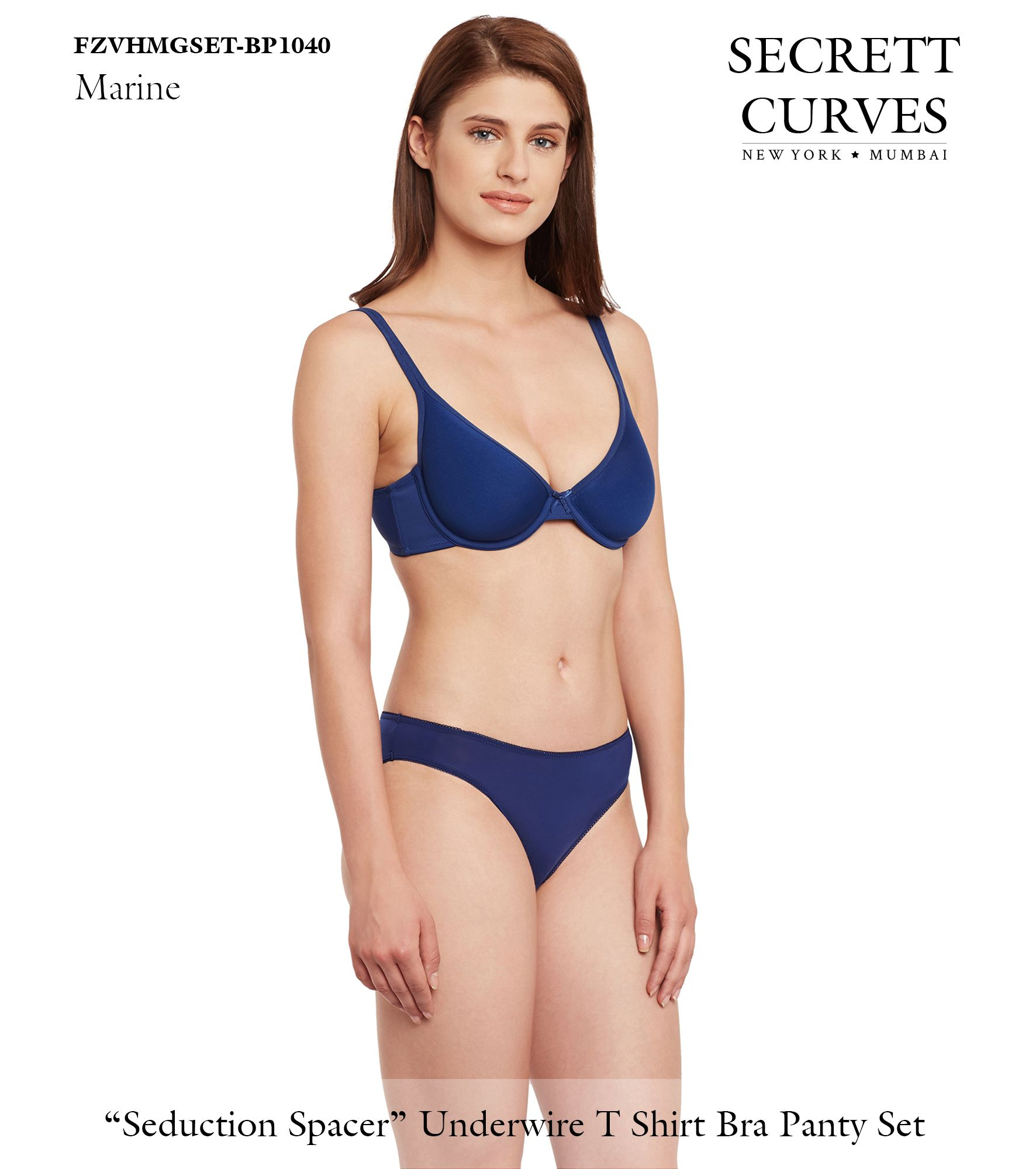 75c7df63e8 Secrett Curves Seduction Spacer Underwire Full Coverage Padded Cup T Shirt  Bra Panty Set Seduction Spacer Bra by Secrett Curves from New York  Our  Seduction ...