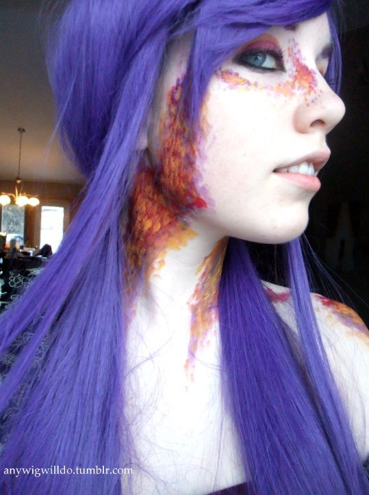 Red Scales On Face And Neck Like This Dragon Scales By Pastel Ai