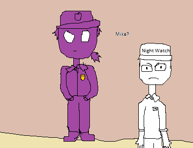Purple guy and mike.