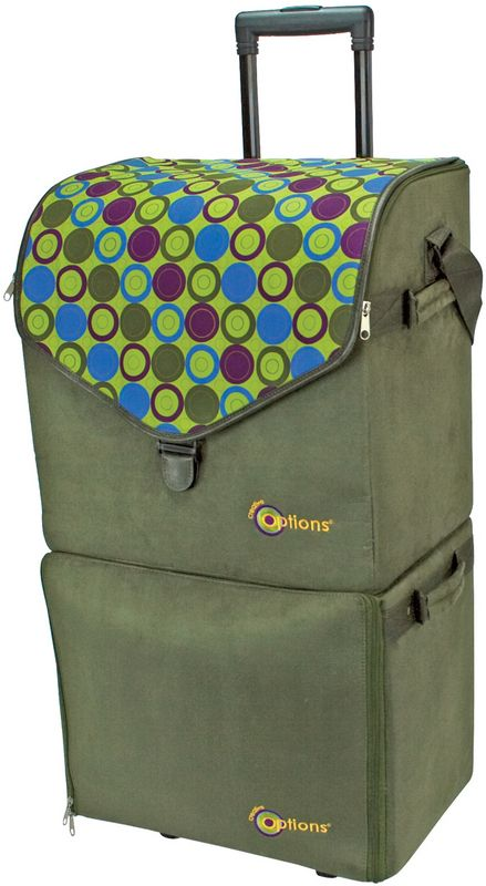 One More Favorite Creative Options Double Decker Rolling Tote 17 5 X12 X35 75 Want This For Scrapbooking To Hold Rolling Tote Scrapbook Tote Tote