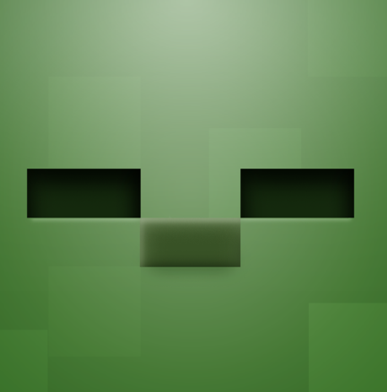 Minecraft Zombie Stencil This In Green On A Brown