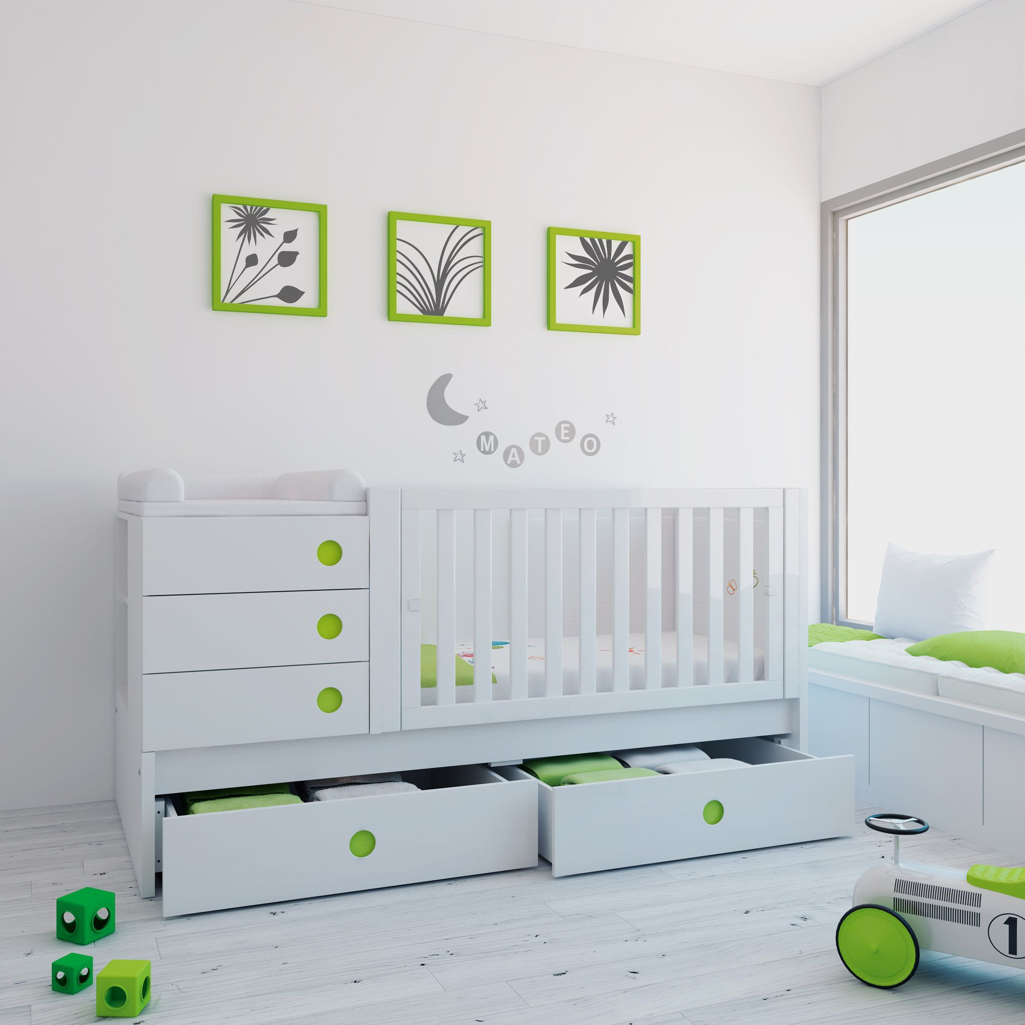 Cuna convertible ORBIT de diseño y moderna para bebés. Convertible ...