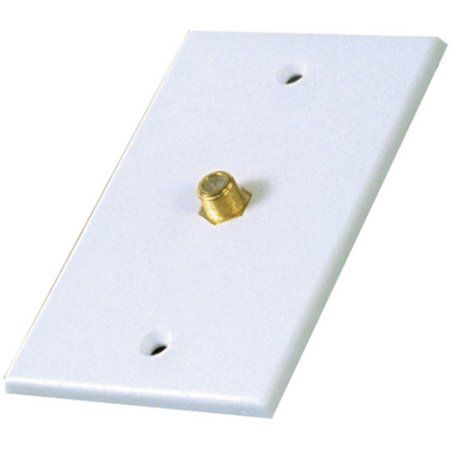 Rca Vh61n Single Coaxial Wall Plate White Plates On Wall Wall Wall Jack