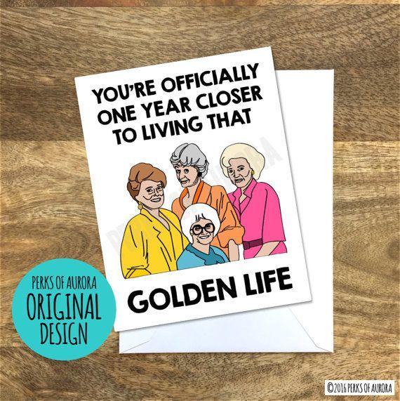 funny birthday card golden girls inspired golden life gift ideas