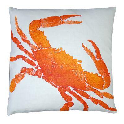 Big Crab Clementine Pillow Stylishbeachhome Com Crab Pillow Beach House Pillow Nautical Pillows