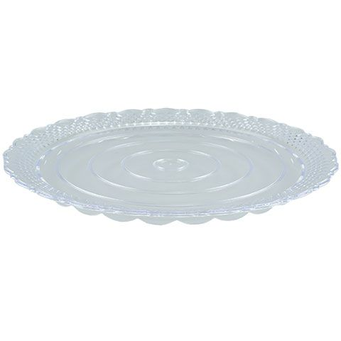 Bulk Clear Crystal-Cut Decorative Cake Plates with Scalloped Edges 11 in. at DollarTree.com  sc 1 st  Pinterest & Bulk Clear Crystal-Cut Decorative Cake Plates with Scalloped Edges ...