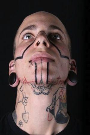 3248833bc tribal by Nazareno Tubaro, Buenos Aires, Argentina   face tattoos ...
