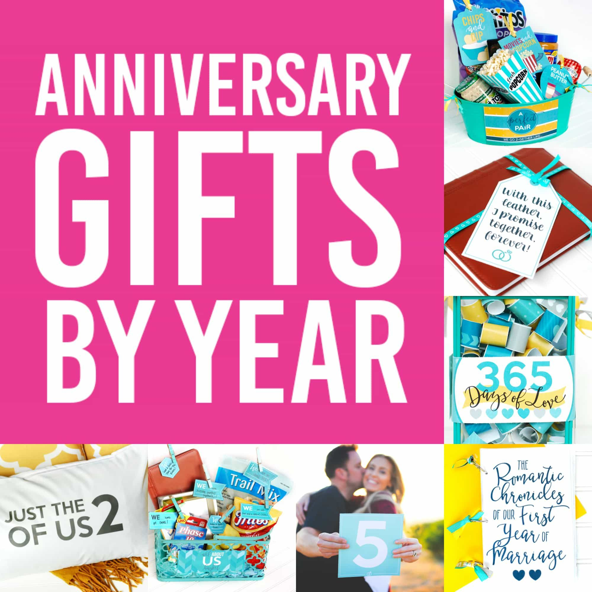 Anniversary Gifts By Year For Spouses - From