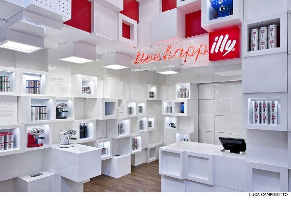 Amazing Store Interior at llly Temporary Shop in Milan with 200 ...