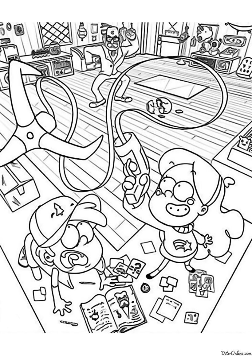 Раскраска Дядя Стэн, Мэйбл и Диппер   Раскраски, Книжка ...