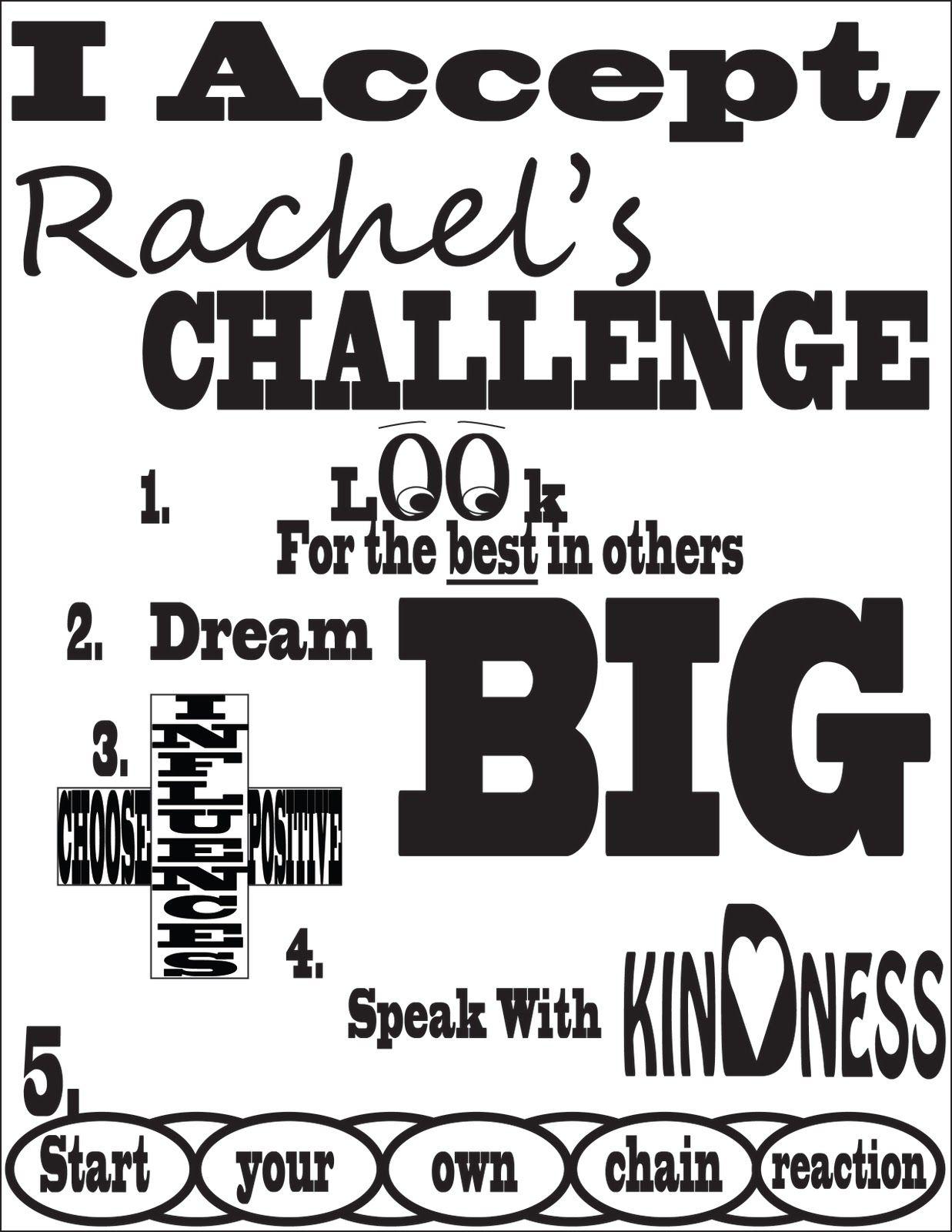 Rachels Challenge Poster