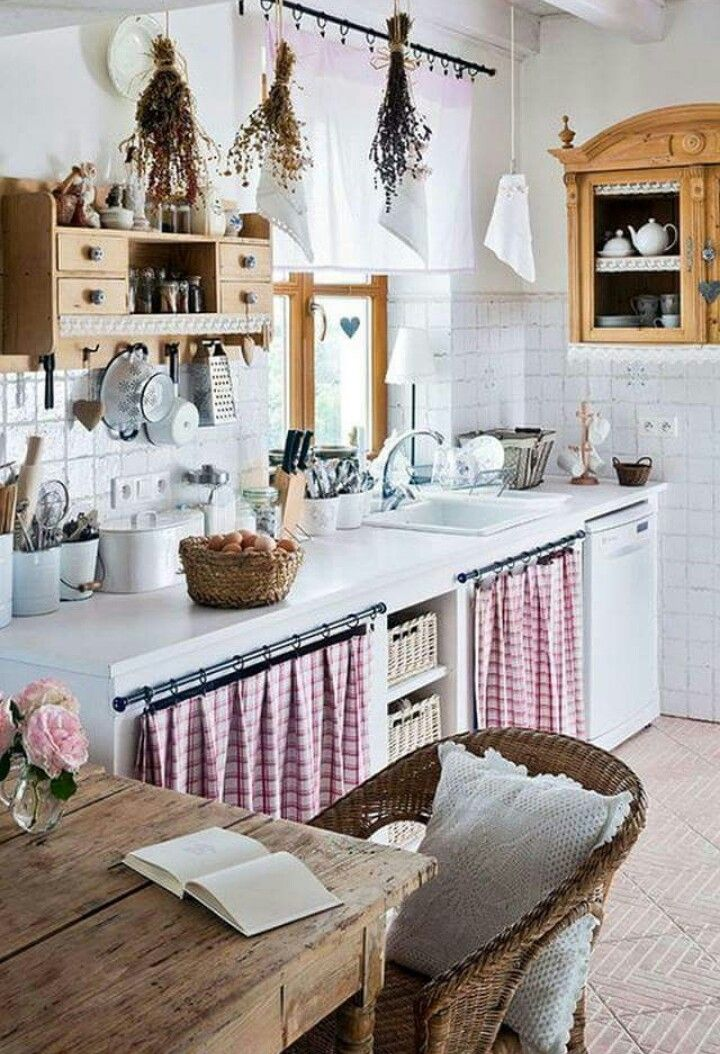 red white checked curtains under counter country house decor farmhouse kitchen decor on farmhouse kitchen valance ideas id=86635