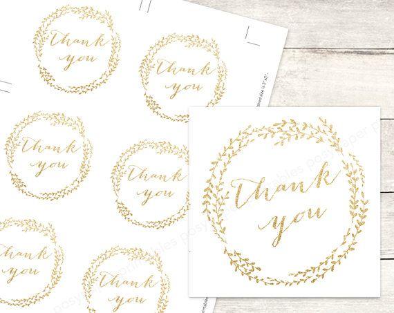 gold bridal shower favor tags printable DIY wedding shower favour ...