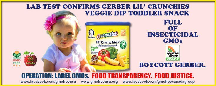 Report Finds Gerber Baby Food Filled With Gmos Gerber Baby Food Healthy Toddler Snacks Veggie Dip
