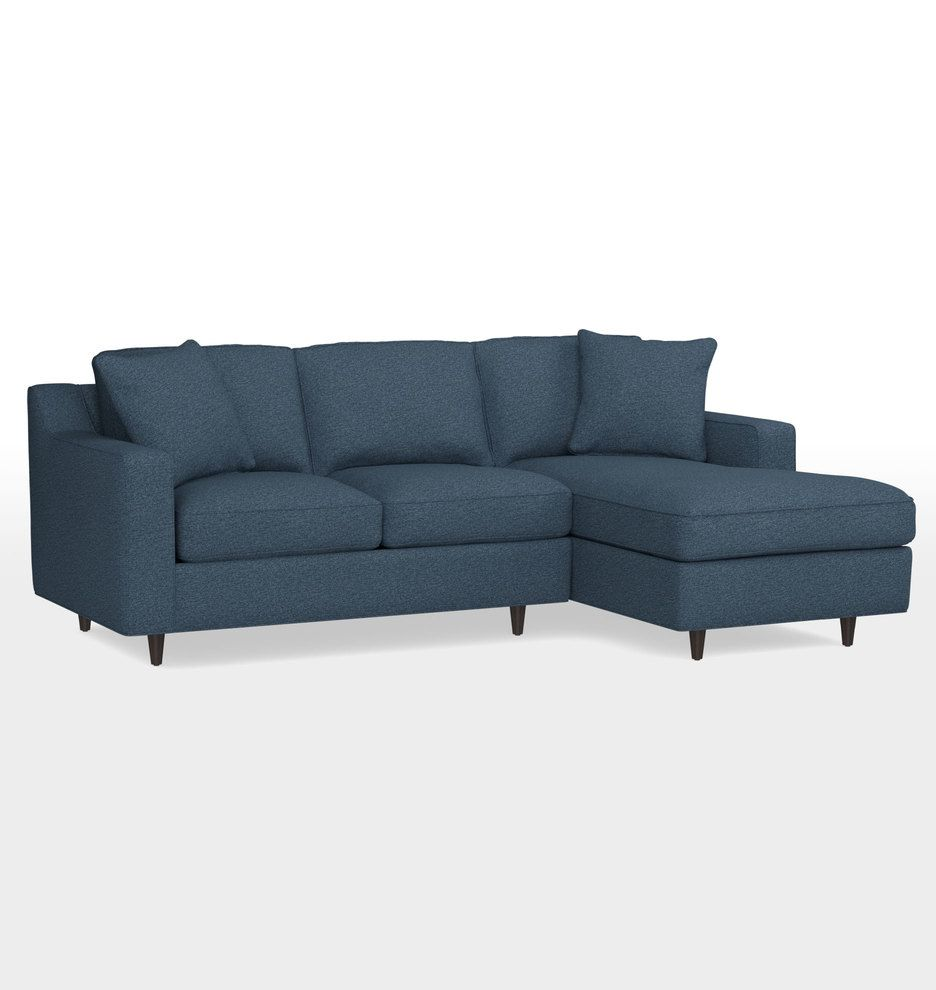 Tremendous Garrison Small Sectional Sofa Chaise Right With Deauville Machost Co Dining Chair Design Ideas Machostcouk