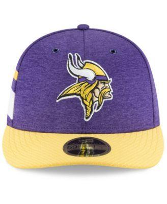 discount 82678 c7ebc New Era Minnesota Vikings On Field Low Profile Sideline Home 59FIFTY Fitted  Cap - Purple 6 7 8